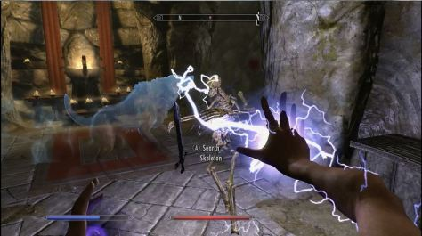 Skyrim, Sparks and Familiar spells
