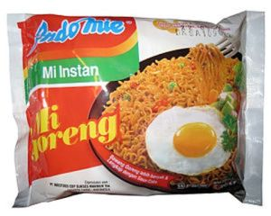 IndoMie brand noodle, this one Mi Goreng (there are other yummy flavors, too).