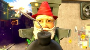 Gnome Bomb, up close.