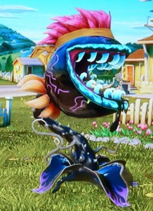 Hot Rod Chomper with Band Punk hat, High Tide mouth, Garlic Cloves organics, and Squiggles tatoo (skin).