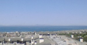 Though not too clear, this was the view of Catalina Island from my husbands first hospital room. Amazing.