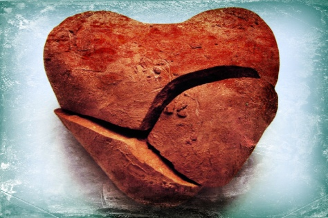 Broken heart (base photo by Alex Bruda, Freeimages.com; filtered by author).