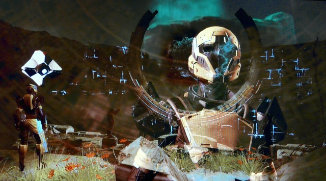 A crazy, multi-frame shot from right before battling the Vex and Sol Progeny.