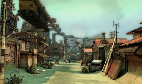 Beautiful, and therefore raider-free, town image from Tales from the Borderlands.