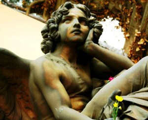 Angel contemplating