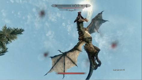 Skyrim, dragon ready to fire!