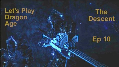Crazy guardian dwarf with lyrium gun, The Descent, Dragon Age