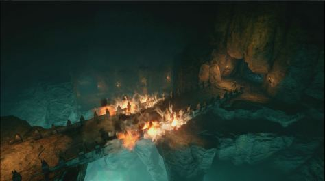 The Descent, bridge exploding