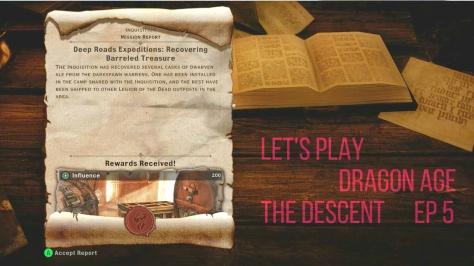 """Dragon Age humor, """"barreled treasure"""" in The Descent"""