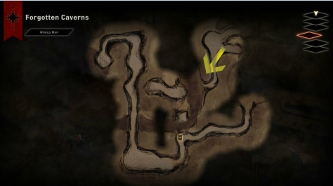 Forgotten Caverns map