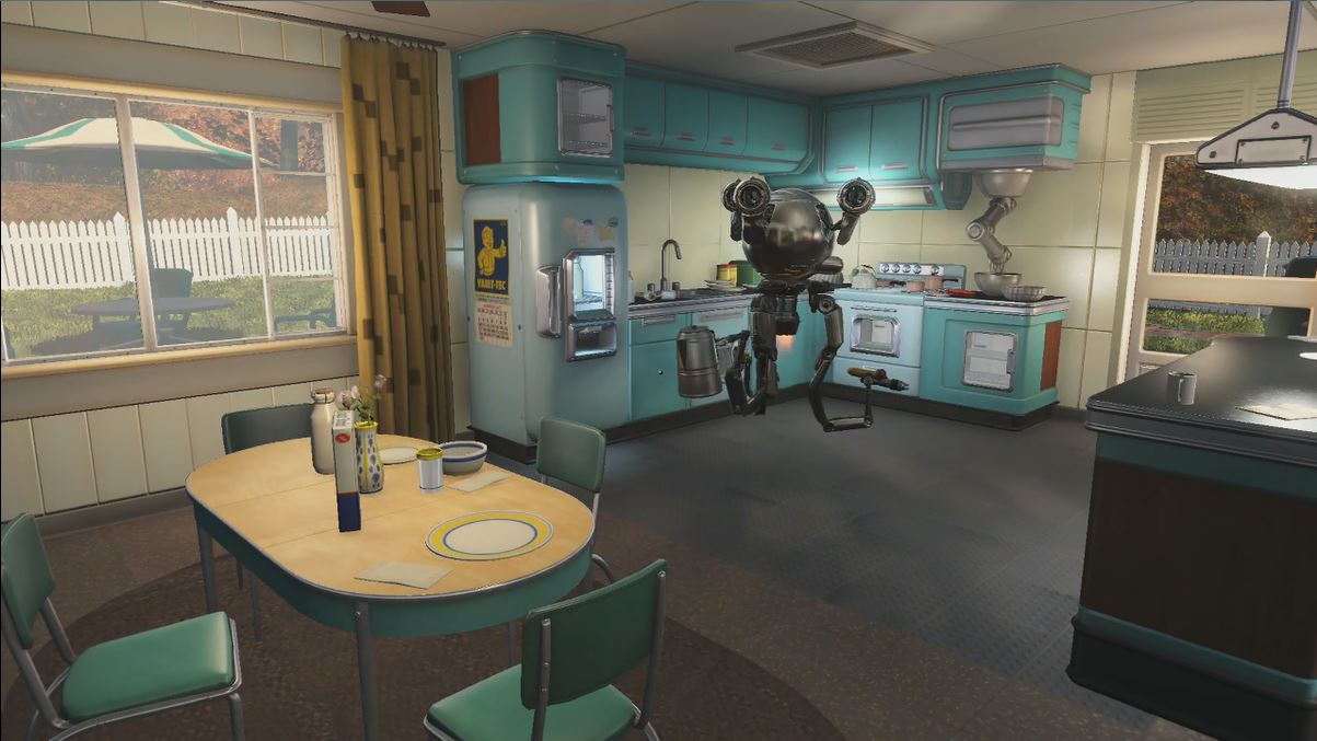 Fallout 4 pre war home kitchen with christian eyes for Best house design fallout 4