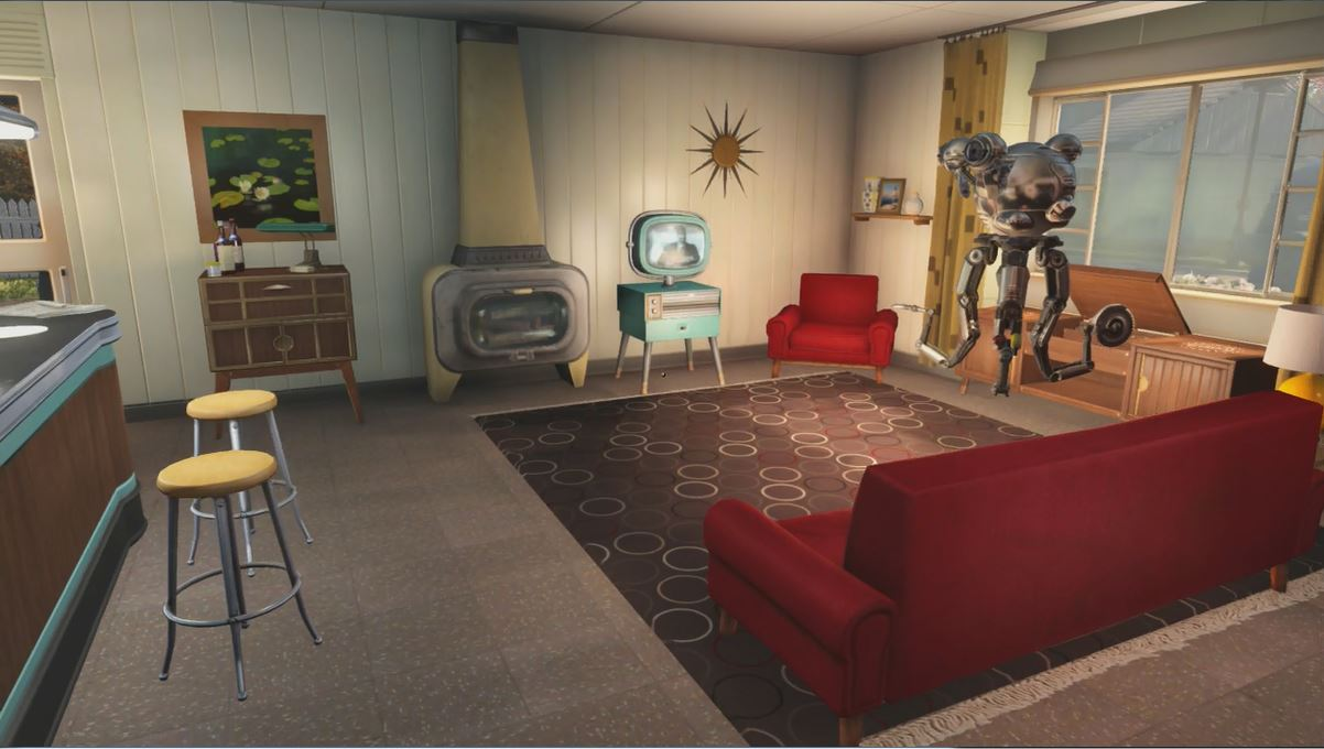 Fallout 4 Pre War Home Living Room With Christian Eyes