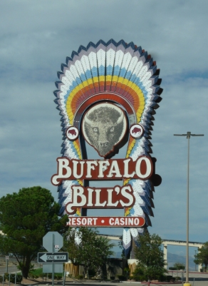 Buffalo Bill's casino sign, Primm