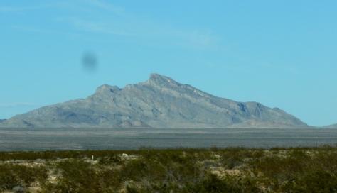 Mountain range that looks like sleeping giant