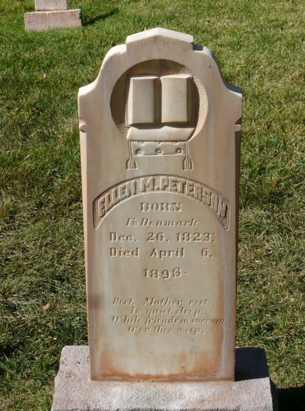 Ellen Peterson headstone, Richfield, Utah