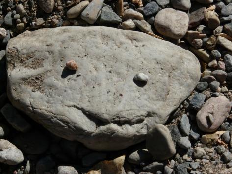 Zak's smiling rock