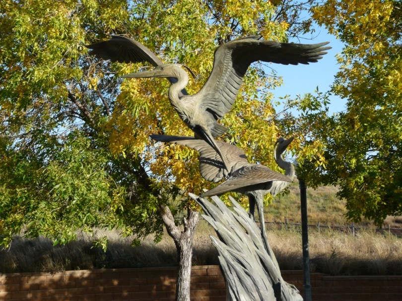 Julesburg exit bird sculpture