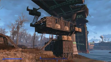 Fallout 4. Building high at Finch Farm