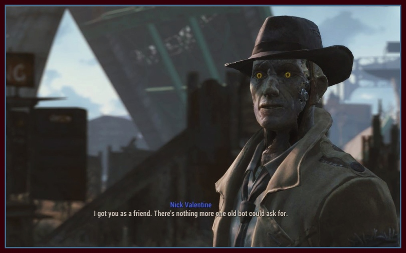 Fallout 4. Nick likes me.