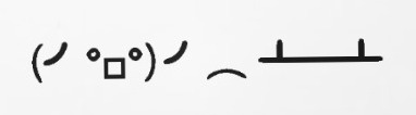 Flipping table emoticon