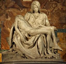 Michelangelo's Pieta statue in the Sistine Chapel.