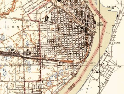 Port Huron, 1939 USGS section